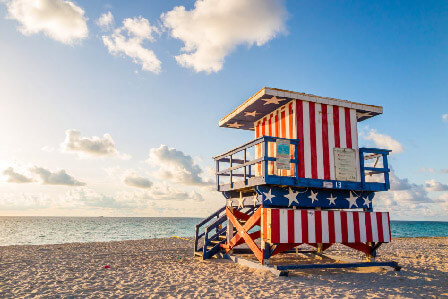 Miami beach life guard stand